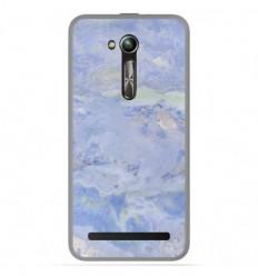 Coque en silicone Asus Zenfone Go ZB500KL - Marbre Bleu