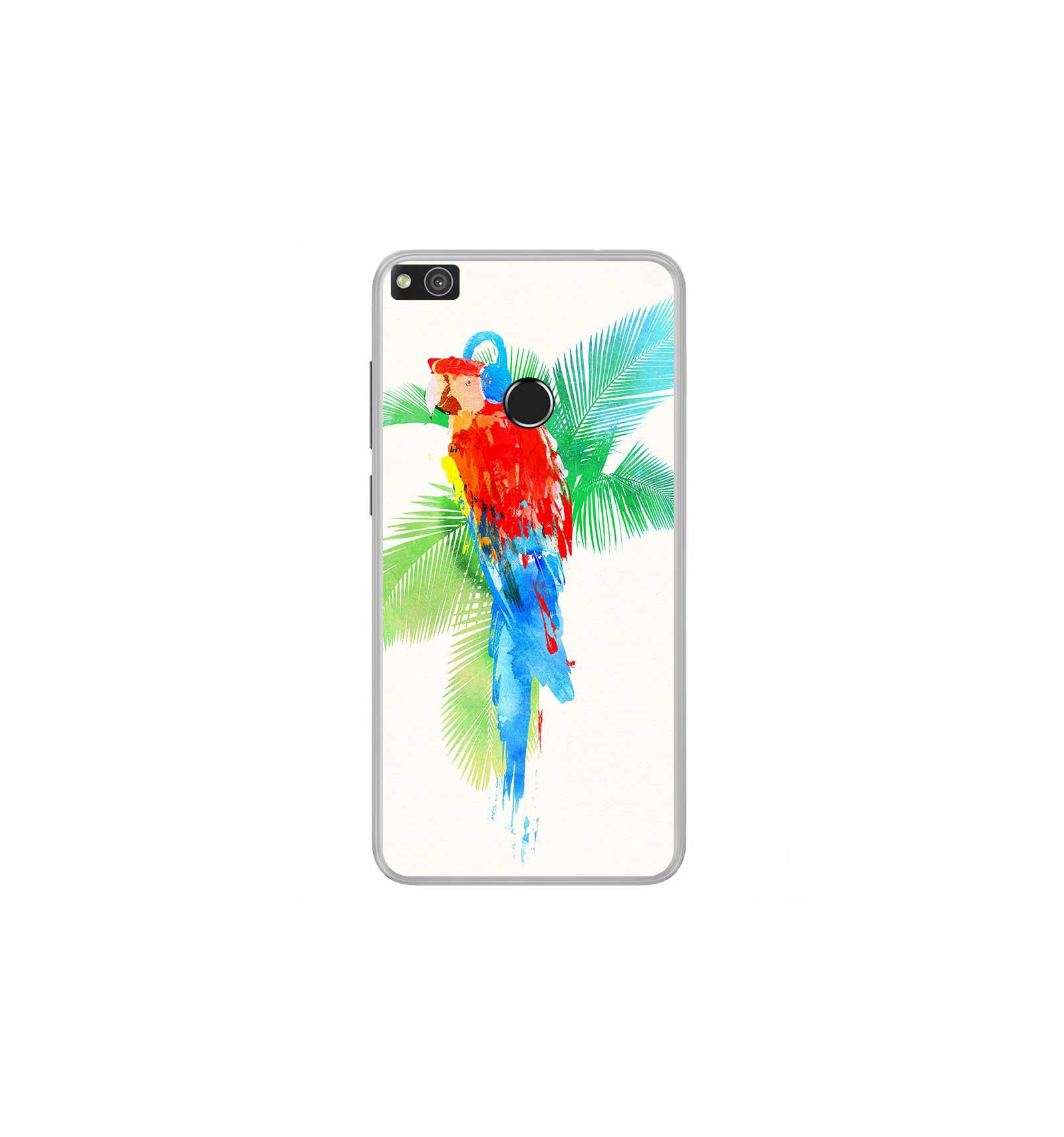 coque en silicone huawei p8 lite 2017 rf tropical party. Black Bedroom Furniture Sets. Home Design Ideas