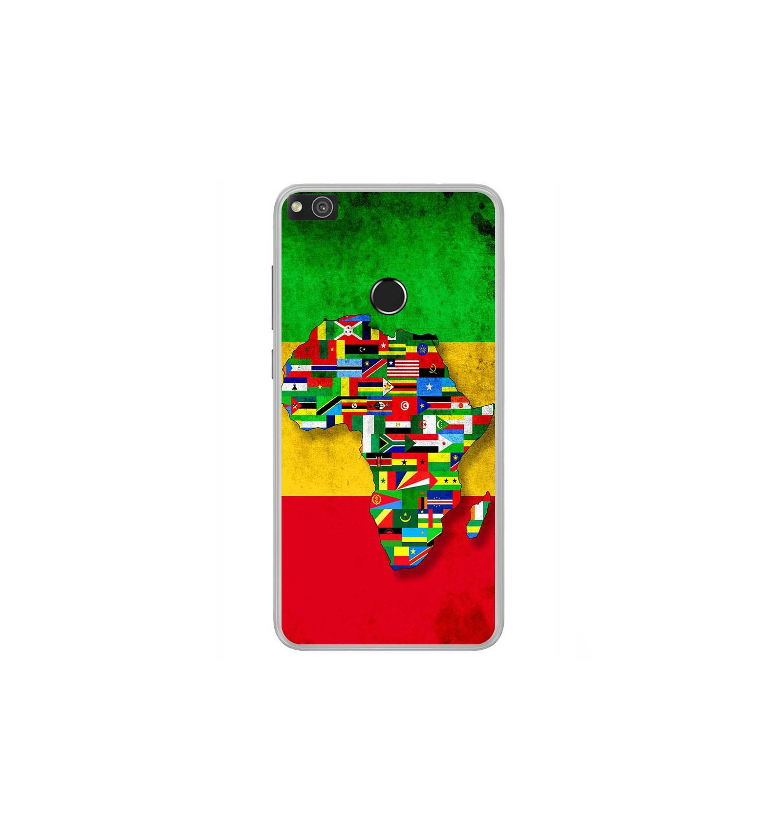 coque en silicone huawei p8 lite 2017 drapeau africa unite. Black Bedroom Furniture Sets. Home Design Ideas