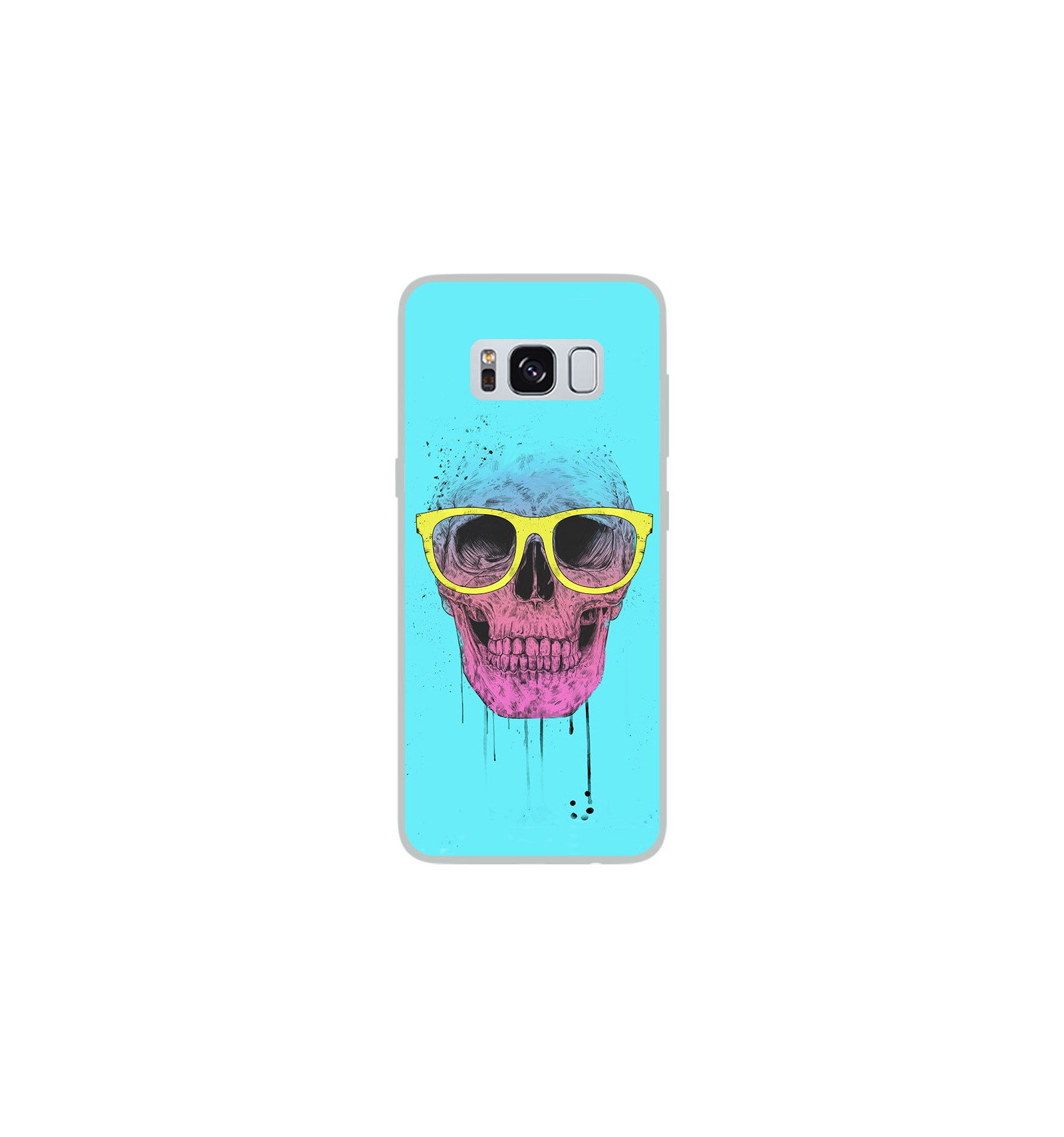 coque en silicone samsung galaxy s8 bs skull glasses. Black Bedroom Furniture Sets. Home Design Ideas
