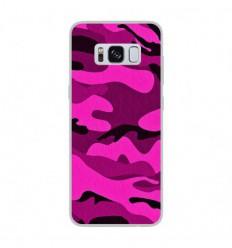 Coque en silicone Samsung Galaxy S8 - Camouflage rose