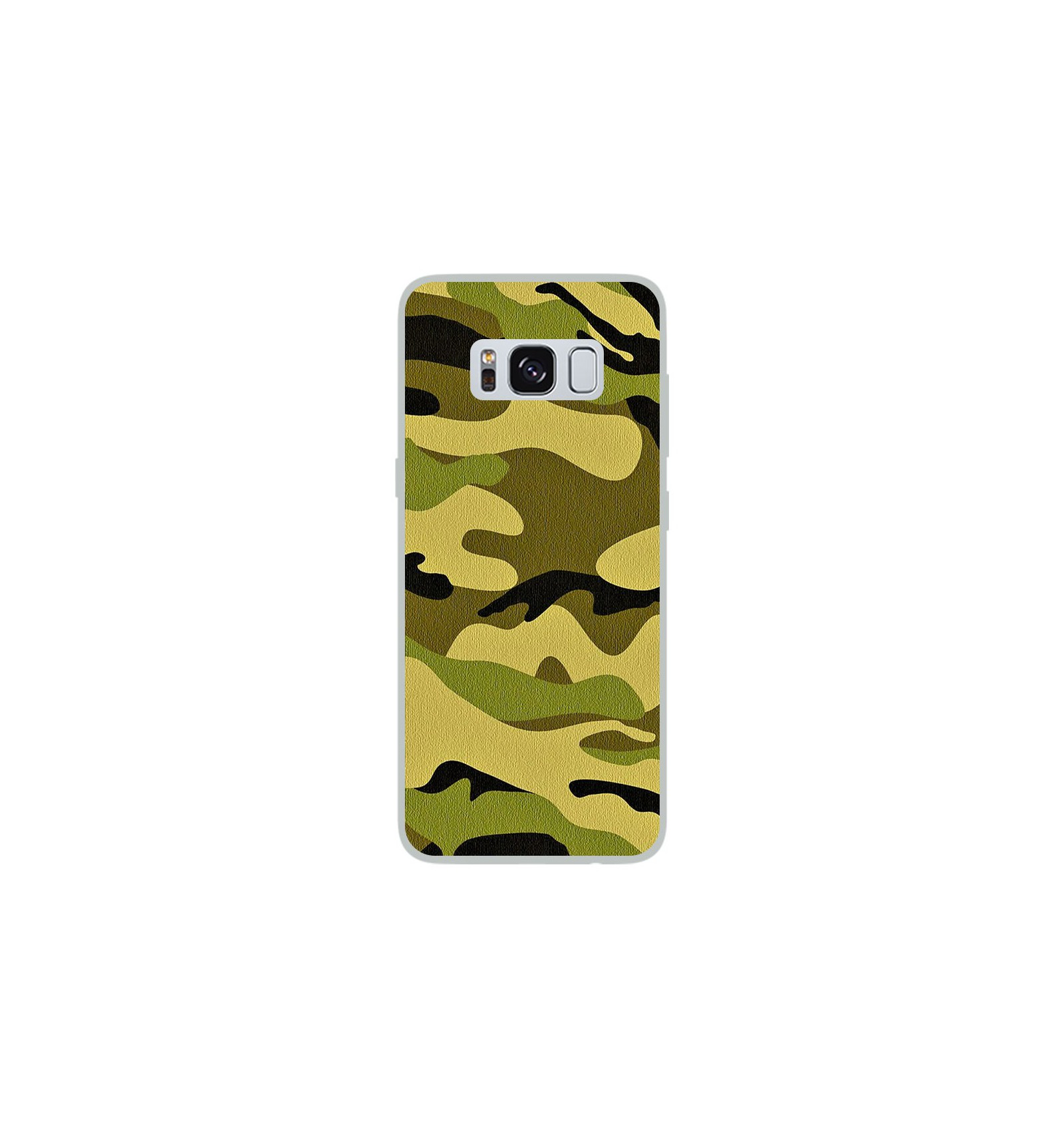 coque en silicone samsung galaxy s8 camouflage. Black Bedroom Furniture Sets. Home Design Ideas