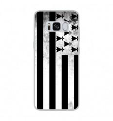 Coque en silicone Samsung Galaxy S8 - Drapeau Bretagne
