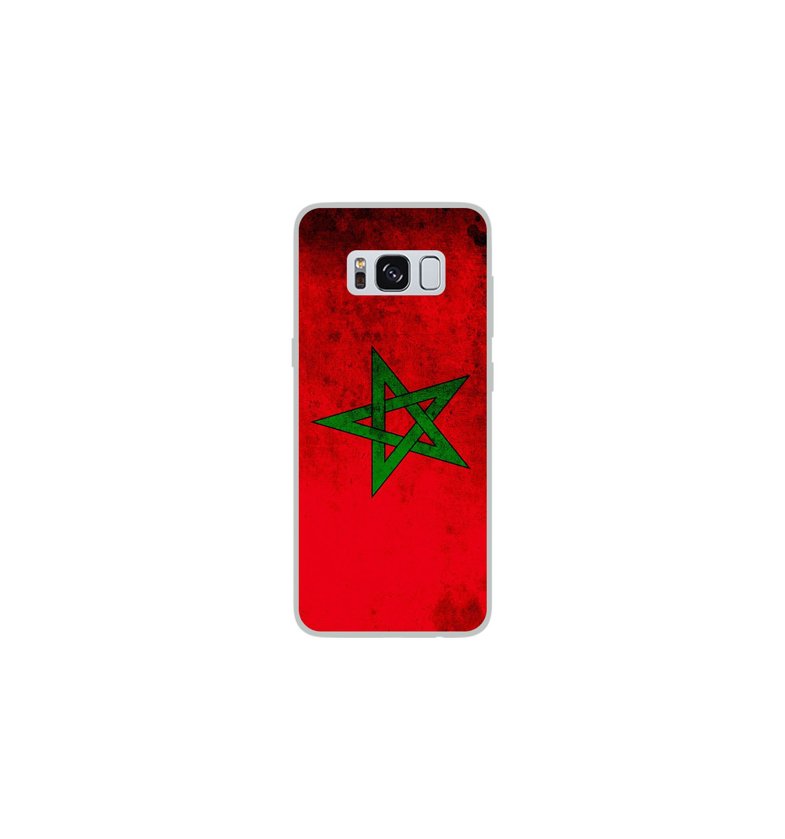 coque en silicone samsung galaxy s8 drapeau maroc. Black Bedroom Furniture Sets. Home Design Ideas