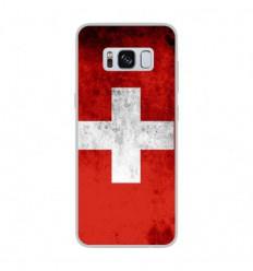 Coque en silicone Samsung Galaxy S8 - Drapeau Suisse