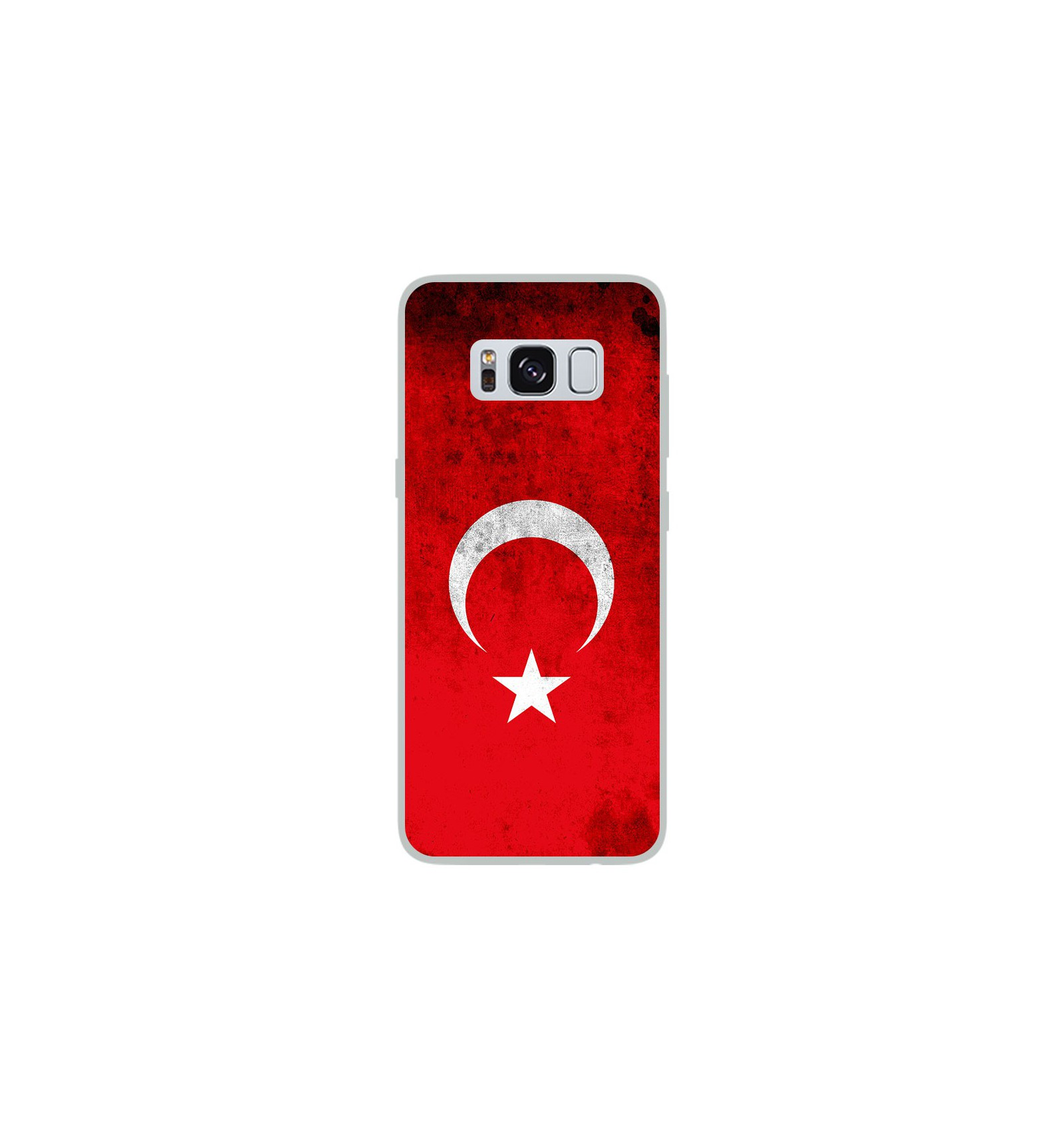 coque en silicone samsung galaxy s8 drapeau turquie. Black Bedroom Furniture Sets. Home Design Ideas
