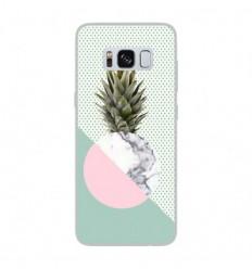 Coque en silicone Samsung Galaxy S8 - Ananas marbre