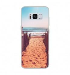 Coque en silicone Samsung Galaxy S8 - Chemin de plage