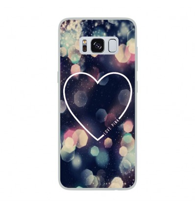 Coque en silicone Samsung Galaxy S8 - Coeur Love