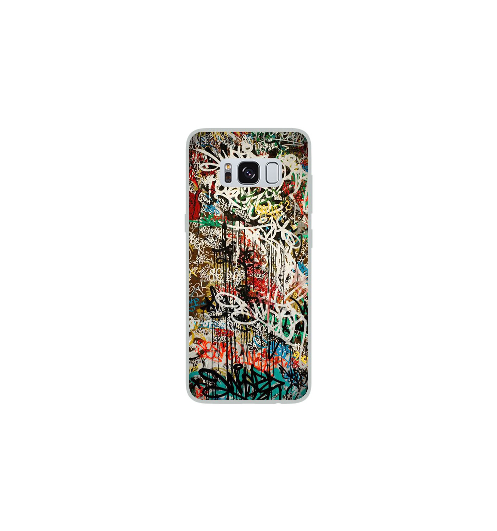 coque en silicone samsung galaxy s8 graffiti 1. Black Bedroom Furniture Sets. Home Design Ideas