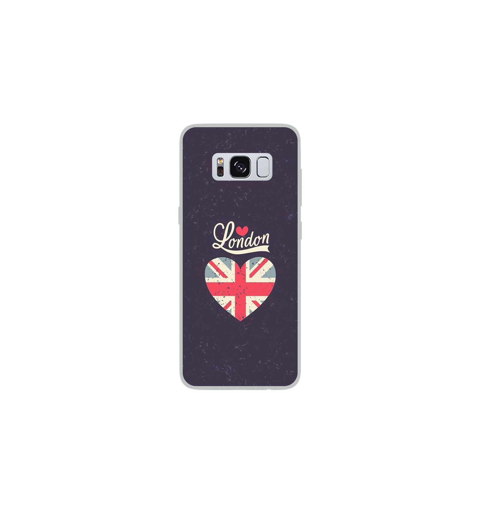 coque en silicone samsung galaxy s8 i love london. Black Bedroom Furniture Sets. Home Design Ideas