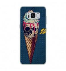 Coque en silicone Samsung Galaxy S8 - Ice cream skull blue