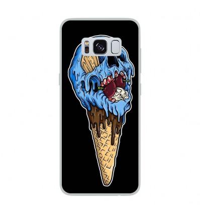 Coque en silicone Samsung Galaxy S8 - Ice cream skull