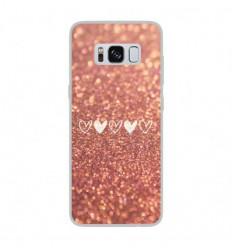 Coque en silicone Samsung Galaxy S8 - Paillettes coeur