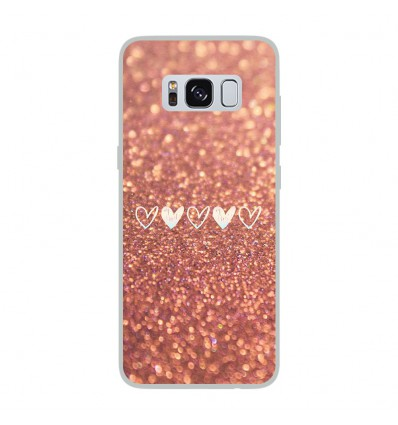 coque en silicone samsung galaxy s8 paillettes coeur. Black Bedroom Furniture Sets. Home Design Ideas