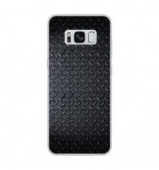 Coque en silicone Samsung Galaxy S8 - Texture metal