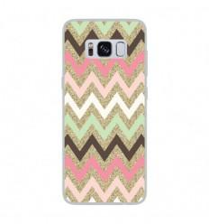 Coque en silicone Samsung Galaxy S8 - Texture rose
