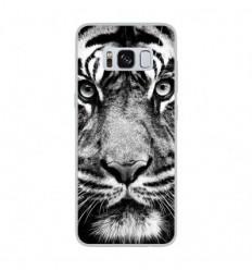 Coque en silicone Samsung Galaxy S8 - Tigre blanc et noir