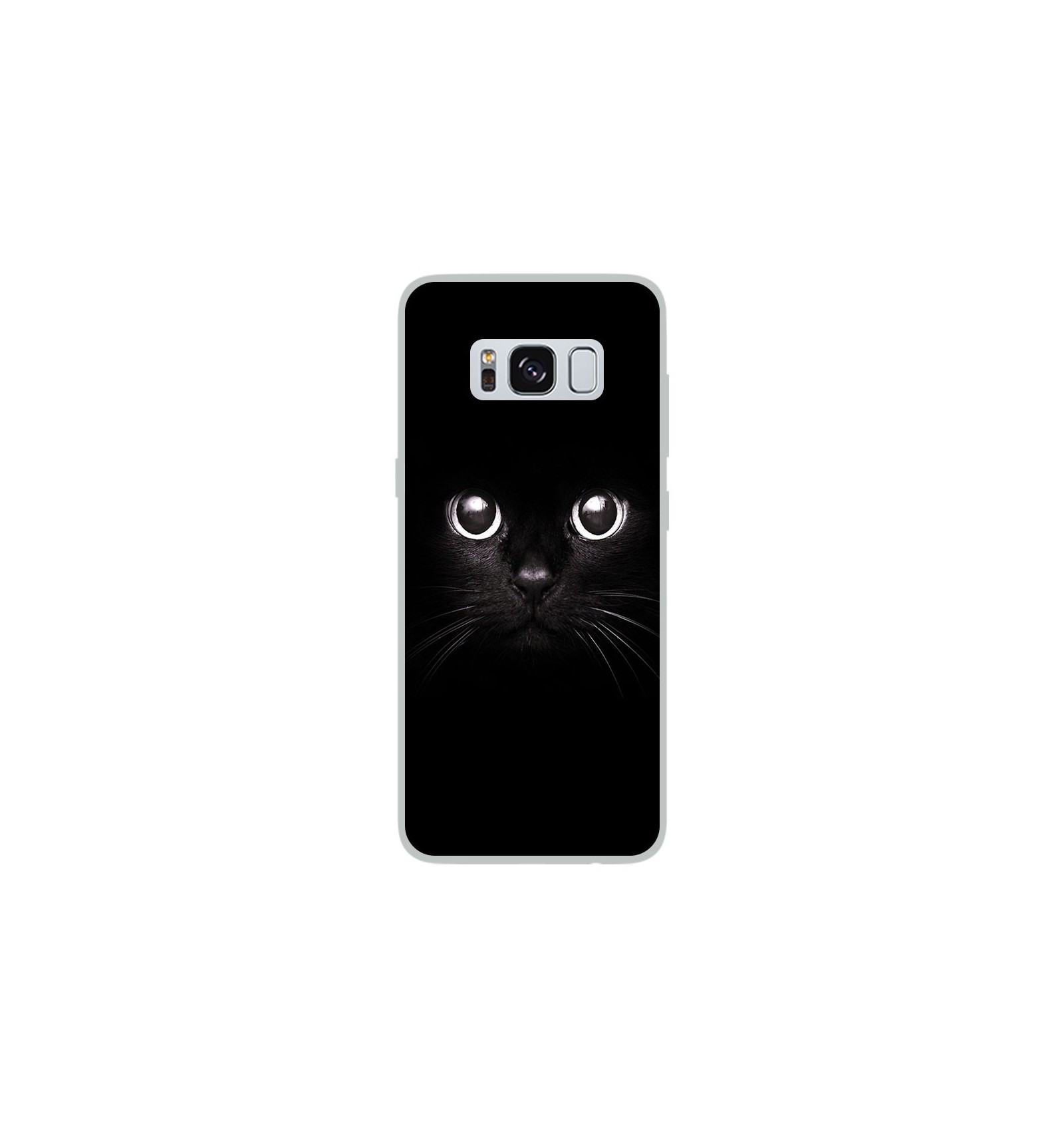 coque en silicone samsung galaxy s8 yeux de chat. Black Bedroom Furniture Sets. Home Design Ideas