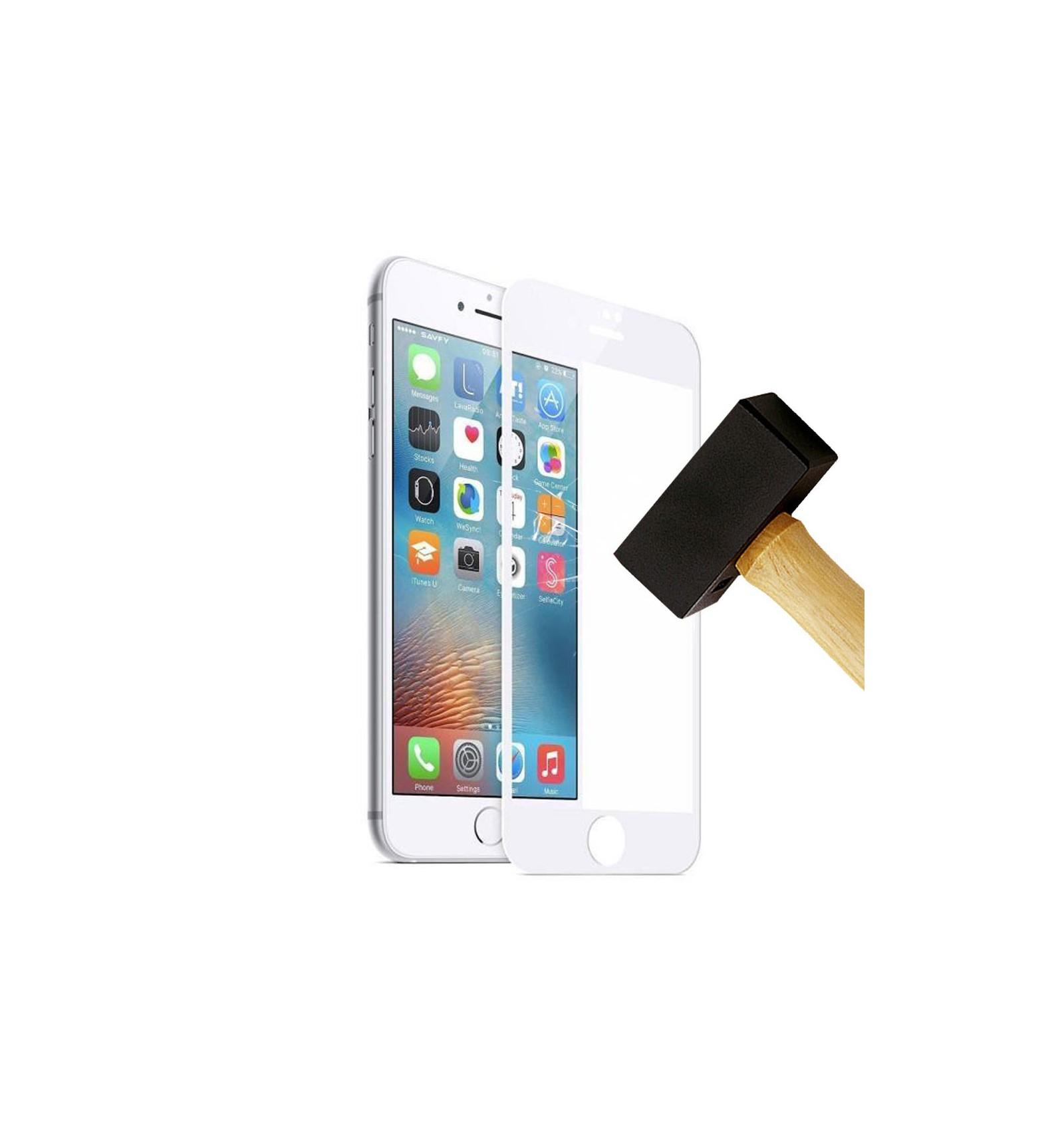 fim verre tremp 4d apple iphone 7 plus blanc protection cran. Black Bedroom Furniture Sets. Home Design Ideas