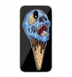 Coque en silicone Samsung Galaxy J5 2017 - Ice cream skull