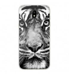 Coque en silicone Samsung Galaxy J5 2017 - Tigre blanc et noir