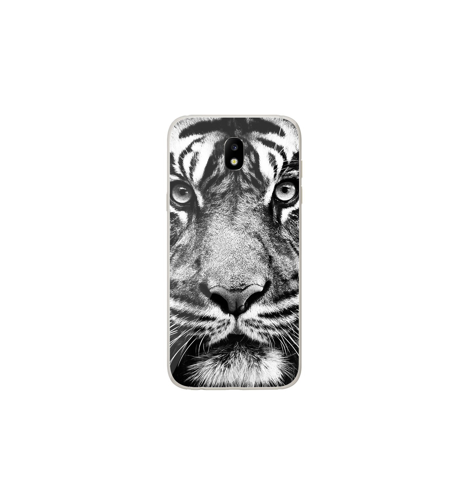 coque en silicone samsung galaxy j5 2017 tigre blanc et noir. Black Bedroom Furniture Sets. Home Design Ideas