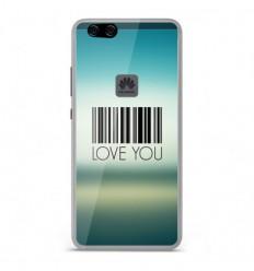Coque en silicone Huawei P10 Lite - Code barre Love you