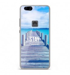 Coque en silicone Huawei P10 Lite - Stay positive