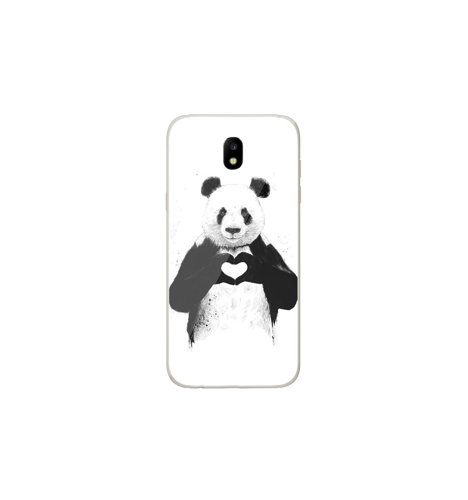 samsung j3 2017 coque silicone panda