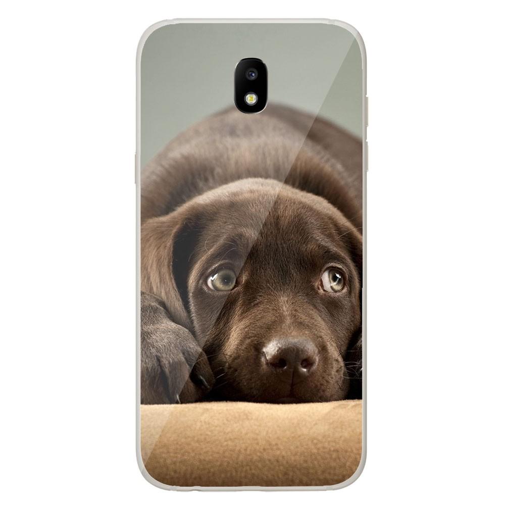 Coque en silicone Samsung Galaxy J3 2017 - Chiot marron