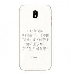 Coque en silicone Samsung Galaxy J3 2017 - Citation 01