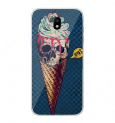 Coque en silicone Samsung Galaxy J3 2017 - Ice cream skull blue