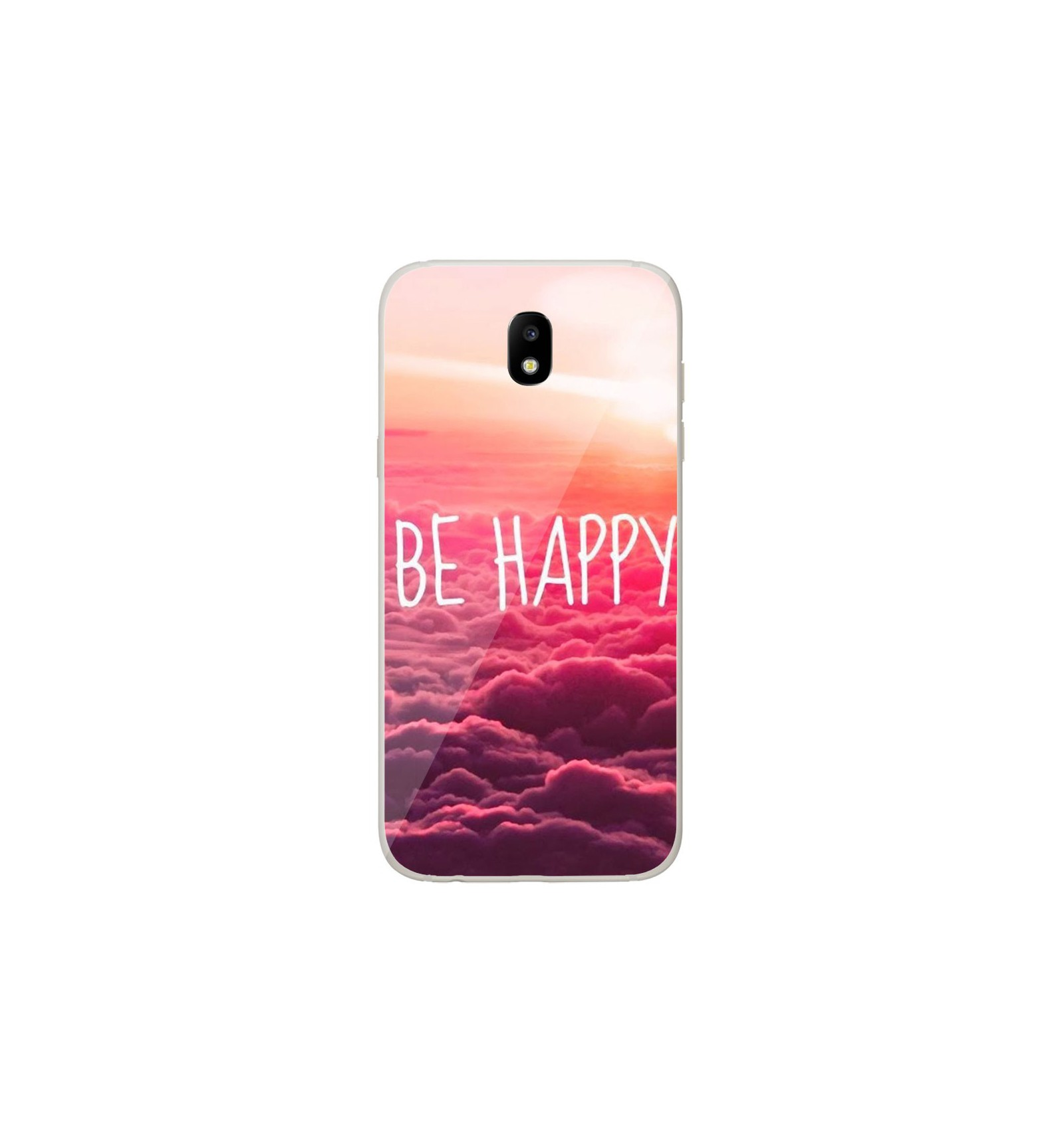 coque en silicone samsung galaxy j7 2017 be happy nuage. Black Bedroom Furniture Sets. Home Design Ideas