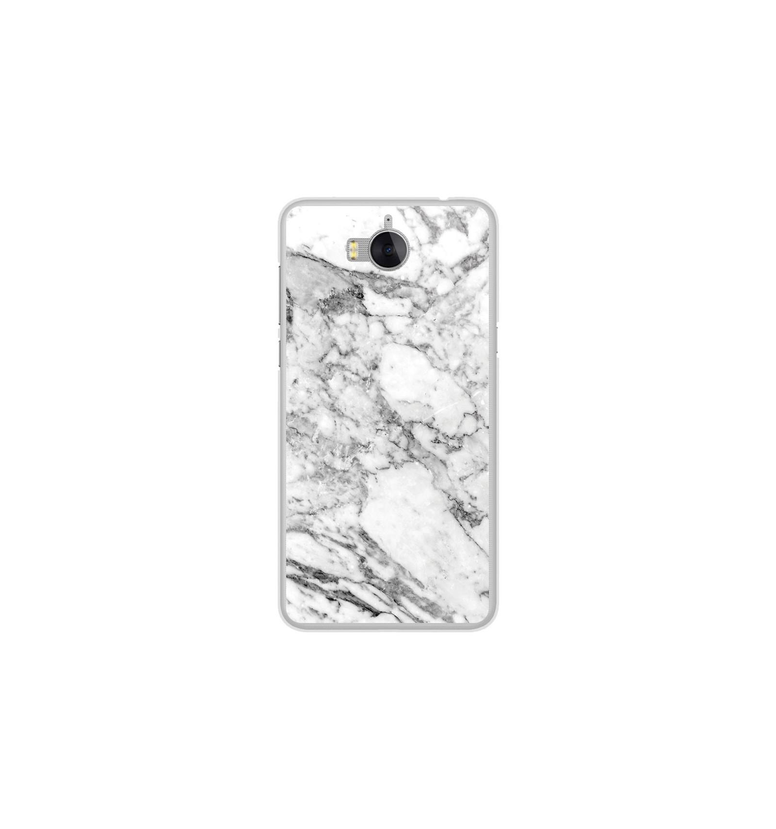 Coque en silicone Huawei Y6 2017 - Marbre Blanc