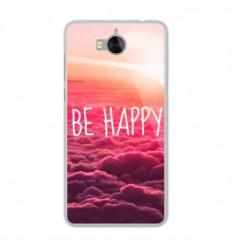 Coque en silicone Huawei Y6 2017 - Be Happy nuage