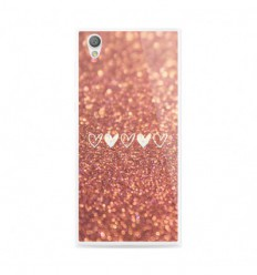 Coque en silicone Sony Xperia L1 - Paillettes coeur