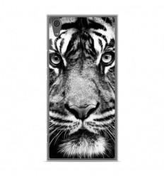 Coque en silicone Sony Xperia XA1 Ultra - Tigre blanc et noir