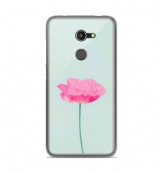 Coque en silicone Alcatel A3 - Fleur Rose