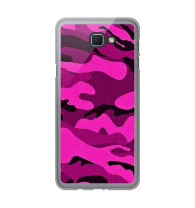 Coque en silicone Samsung Galaxy J5 Prime - Camouflage rose