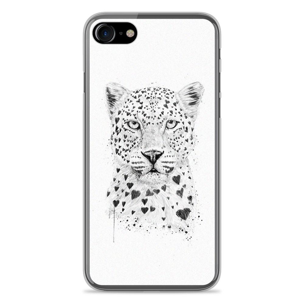 coque iphone 8 leopard motif
