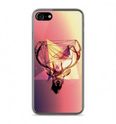 Coque en silicone Apple IPhone 8 - Cerf Hipster