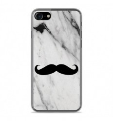 Coque en silicone Apple IPhone 8 - Hipster Moustache
