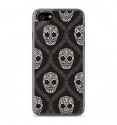 Coque en silicone Apple IPhone 8 - Floral skull