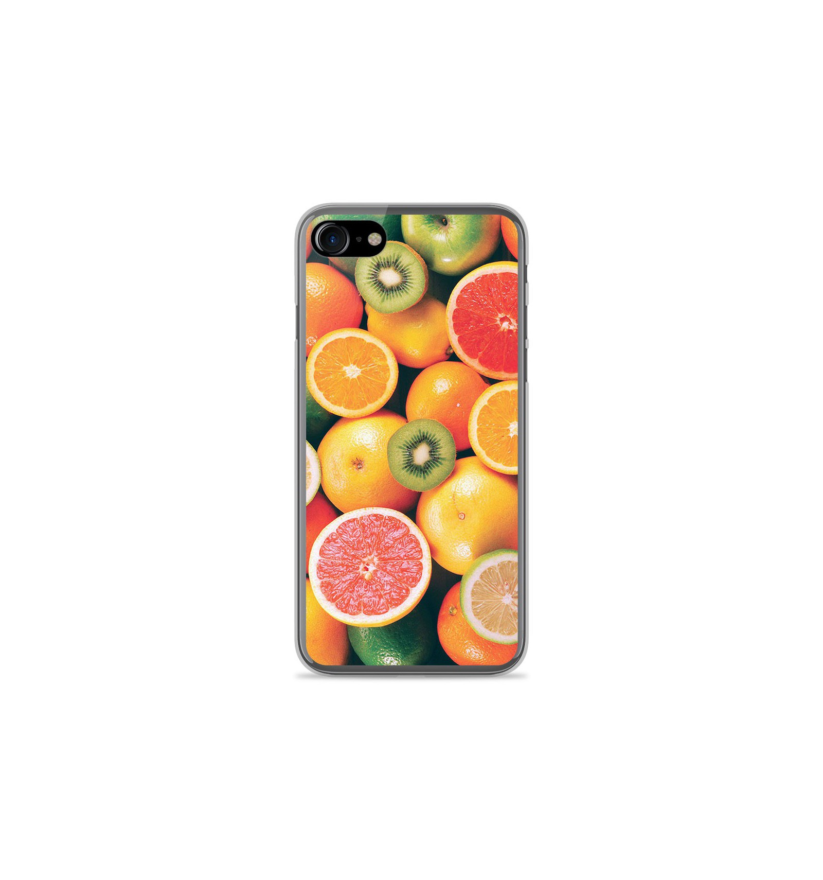 coque iphone 8 silicone motif fruit