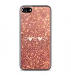 Coque en silicone Apple IPhone 8 - Paillettes coeur