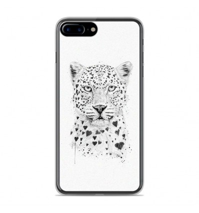 Coque en silicone Apple IPhone 8 Plus - BS Love leopard