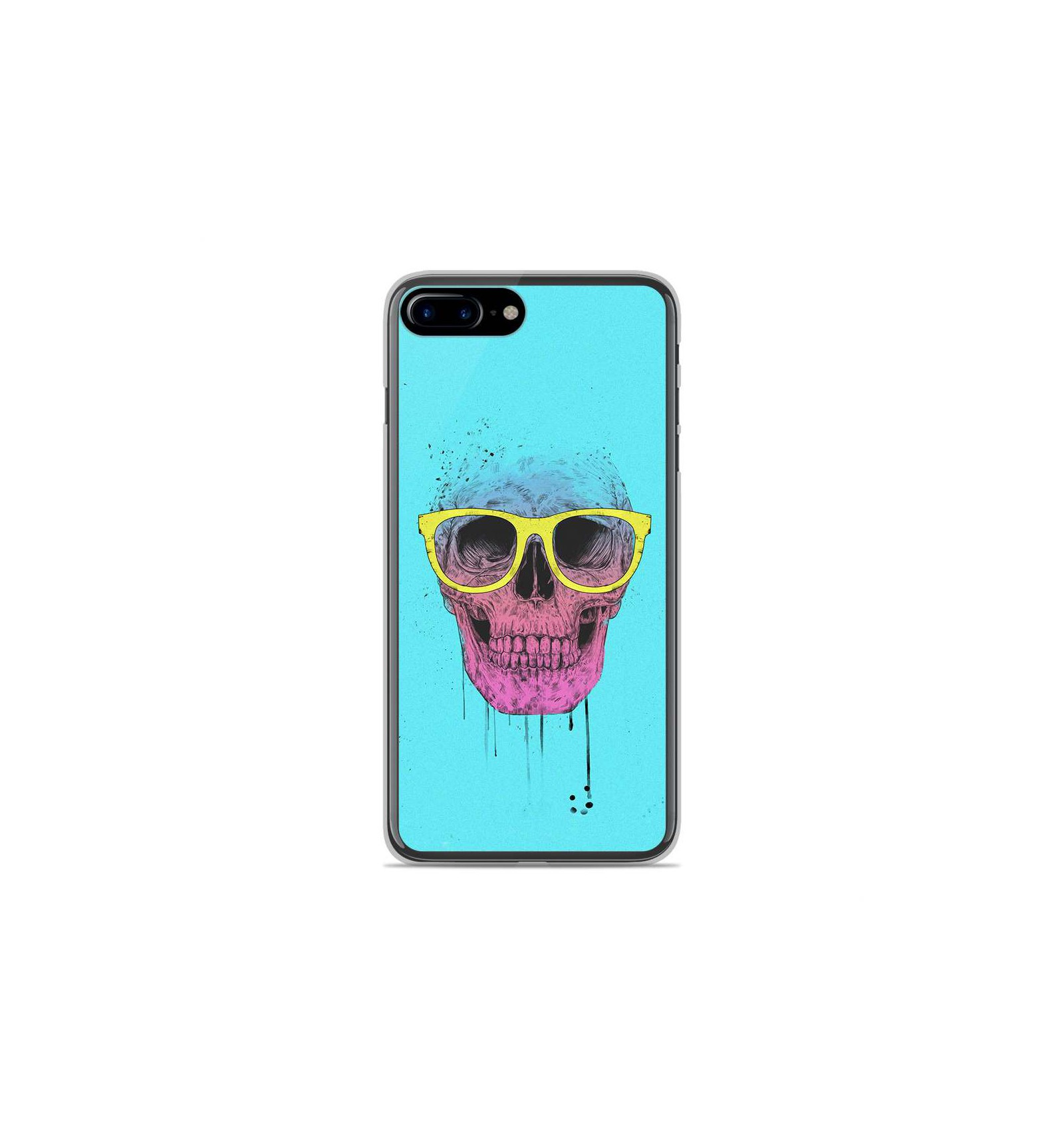 coque iphone 8 silicone skull