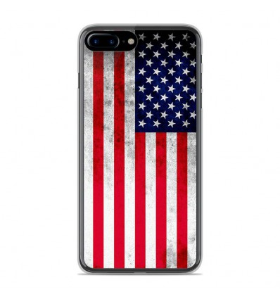 Coque en silicone Apple IPhone 8 Plus - Drapeau USA