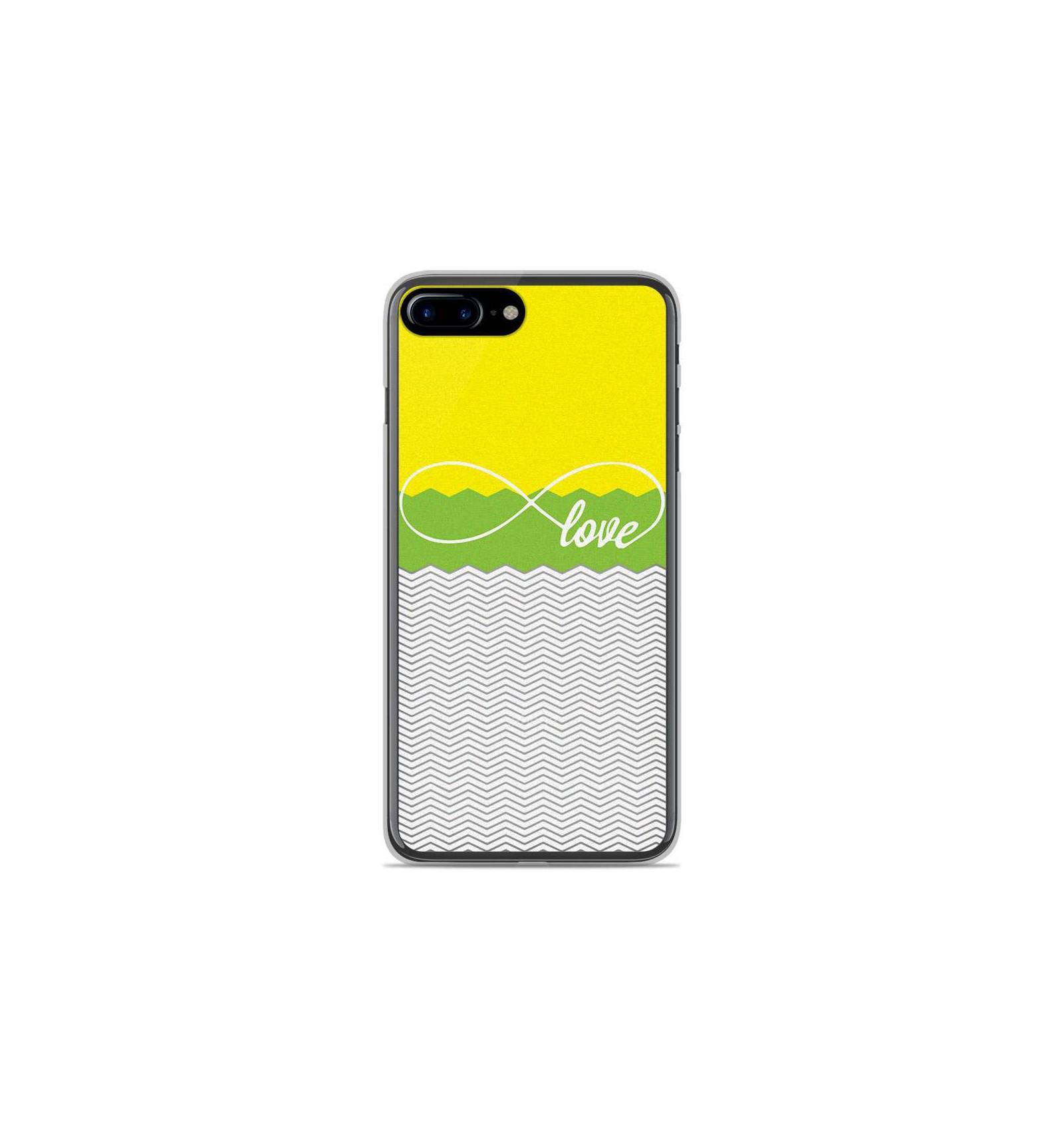 coque silicone iphone 8 plus jaune